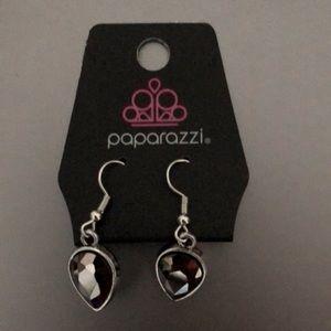 Gunmetal Silver Teardrop Earrings **FINAL PRICE**
